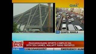UB: Pagdarausang sports complex ng 30th SEA Games, malapit nang matapos