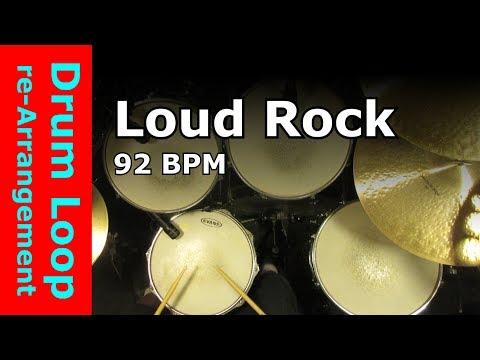 Loud Rock Beat 92 BPM [Drum Loop re-Arrangement]