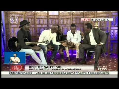 Jeff Koinange in Studio with the talented Kenyan band Sauti Sol Part 1