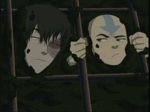 Avatar the last airbender, Aang & Zuko get stuck!