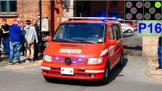 ELW P16 hovedstadens beredskab brandbil i udrykning