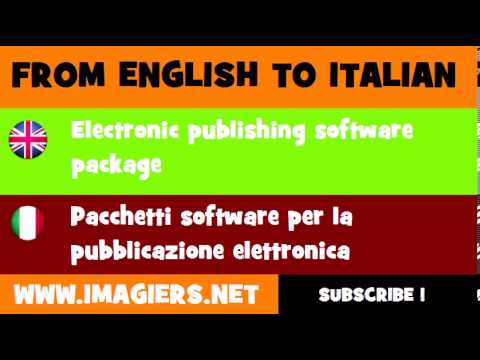 How to say Electronic publishing software package in Italian