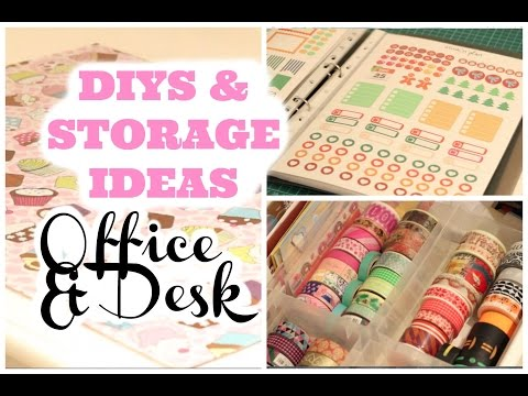 Diys Storage Ideas For Office Desk Decor