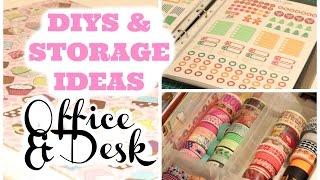 CUTE DIYS & STORAGE IDEAS OFFICE/DESK Organize w/me