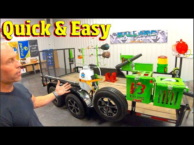 Putting a Lawn care trailer together - example