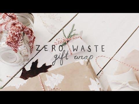 DIY zero waste gift wrap