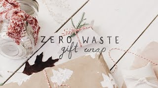 DIY zero waste gift wrap