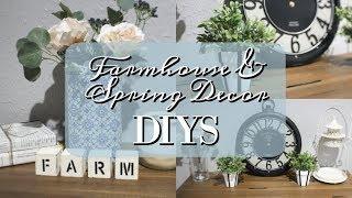 FARMHOUSE & SPRING DECOR DIYS 2019