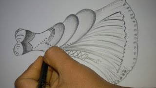 How To Draw A Dress Design || How To Draw A Beautifull Dress || Drawing Tutorial