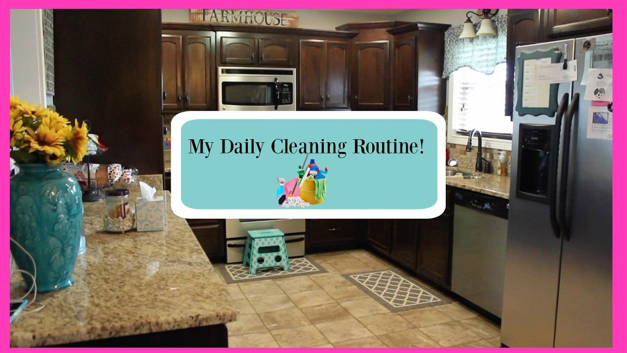 My Daily Kitchen Cleaning Routine~2017 - YouTube