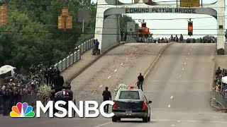 Rep. John Lewis' Casket Travels Across The Historic Edmund Pettus Bridge One Last Time | MSNBC
