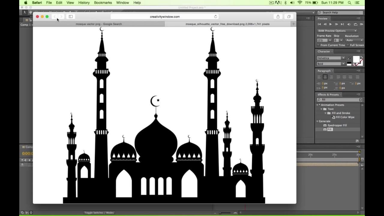 Ae Ramadan Greeting Tutorial Youtube