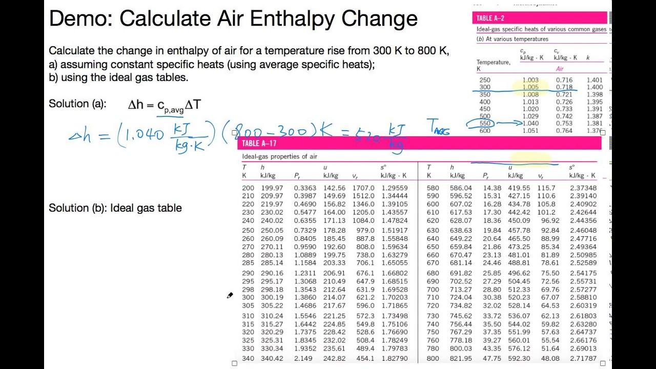 R22 enthalpy calculator