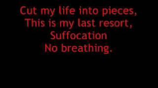 Papa Roach Last Resort Lyrics