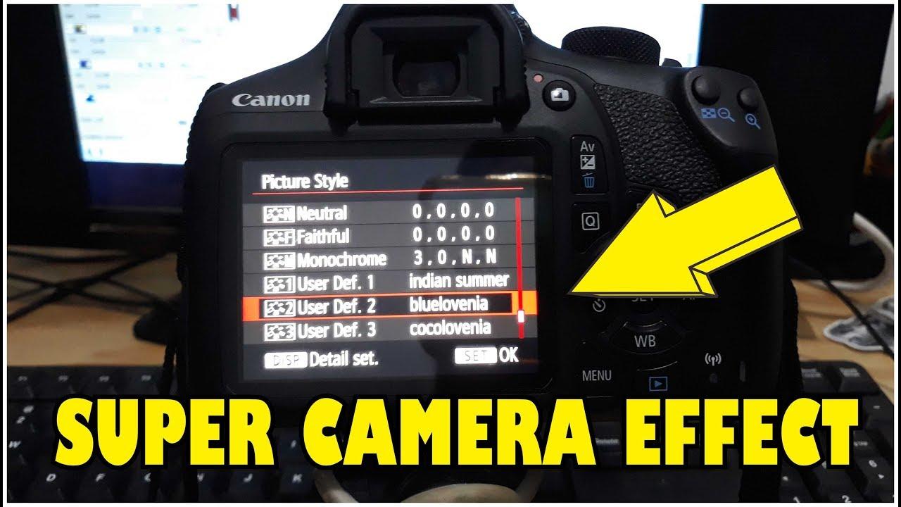 Cara Pasang Efek Kamera Dslr Canon Eos 1300d Youtube