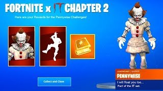 "FORTNITE X ""IT"" FREE REWARDS SOON!! GREASY AND MOISTY RETURNING!! (FNBR)"