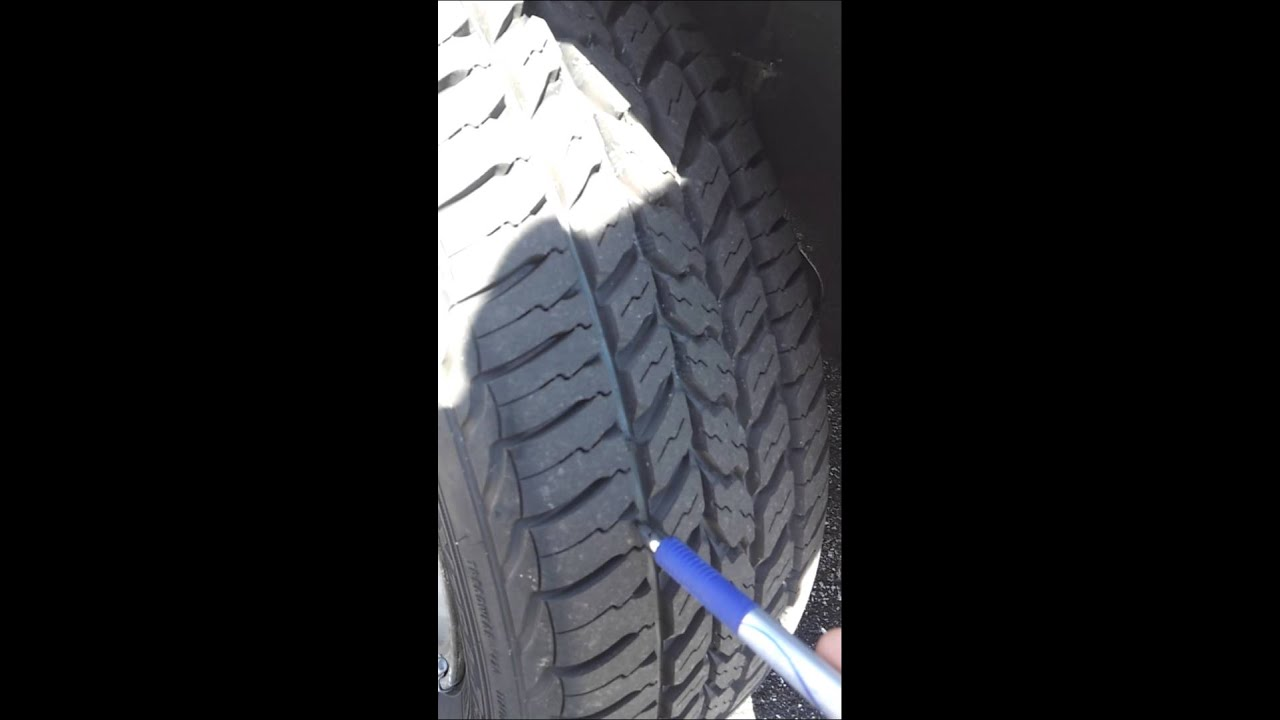 how to check your tires for tread wear and finding the tread indicator youtube. Black Bedroom Furniture Sets. Home Design Ideas