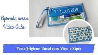 Porta Higiene Bucal com Visor e Zíper