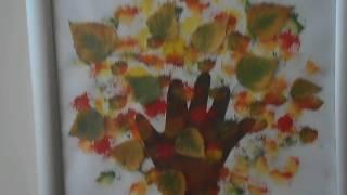 99. Осенняя берёза... Задание из детского сада... 04.10.17