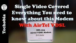 Dlink DSL 224 | Airtel VDSL Modem | Configuration | Static IP | Port Fwd | DVR Cam | Speedtest- Wifi