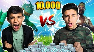 Fortnite 1v1 Against 10 Year Old Little Brother For 10,000 V-BUCKS! (Rage)