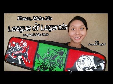DIY League of Legends inspired Violin Case