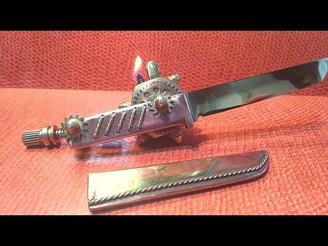 Steampunk. Почтовый нож + зажигалка бензиновая. Видео. Своими руками.