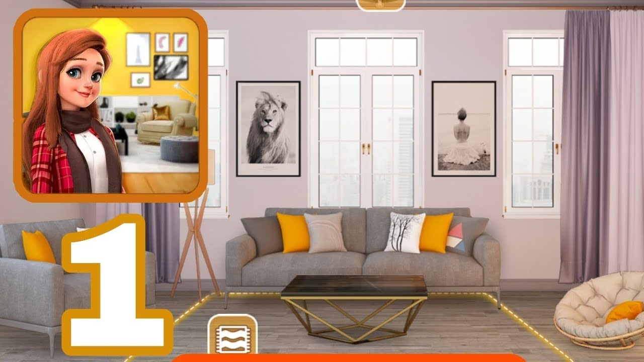 My Home Design Dreams Gameplay Walkthrough Part 1 Living Room Decoration Restored Youtube