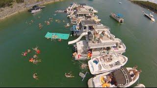 Boat Party Scene Lake Travis 2015 //  Devil's Dove // GoPro Drone!