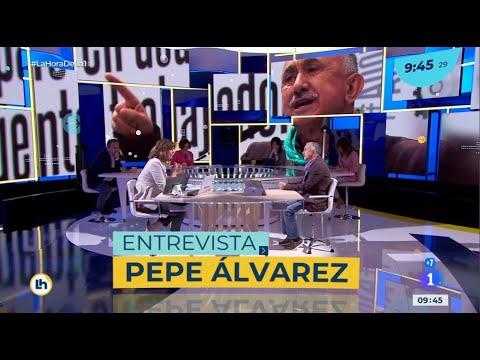 """Entrevista a Pepe Álvarez en el programa """"La hora de la 1"""" de TVE"""