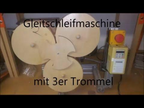 gleitschleifmaschine mit 3er trommel scheuertrommel poliertrommel trowalisierer youtube. Black Bedroom Furniture Sets. Home Design Ideas