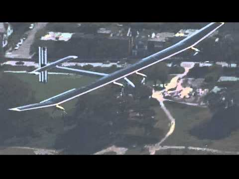 Solar plane video | amazing flight of a solar plane
