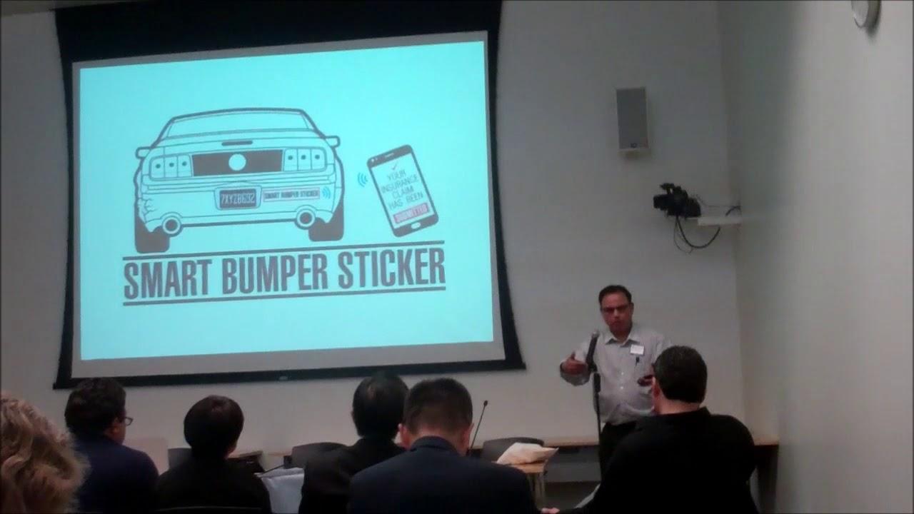 Smart bumper sticker indiegogo