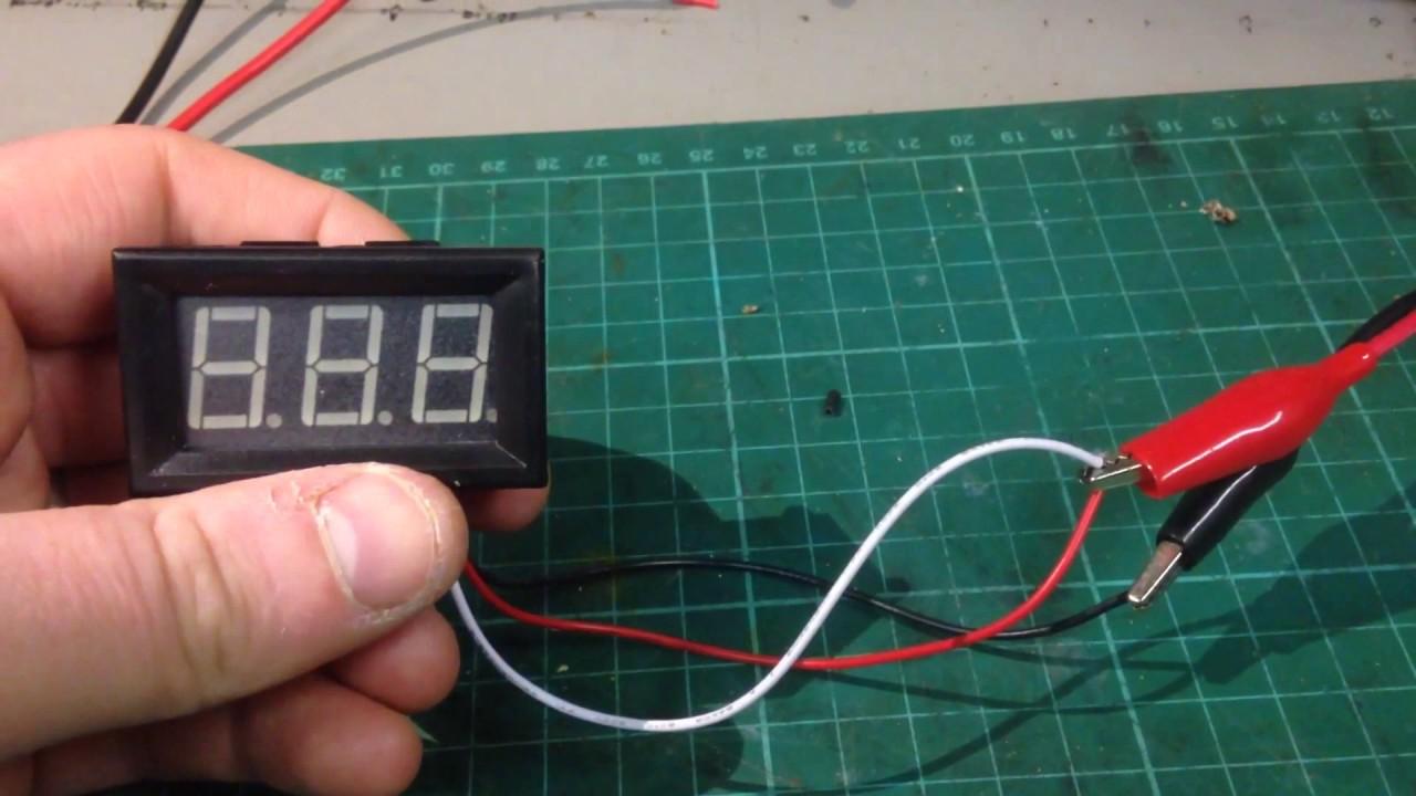 Banggood Panel Voltmeter Settings and Setup as an Ammeter - YouTube