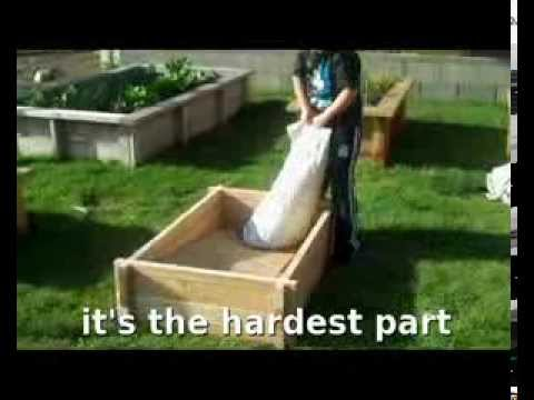How to build a raised planter bed garden Gro-O GroEasy Redwood Raised Planter Kit