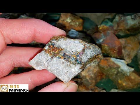 High Grade Gold, Silver & Copper Ore Samples