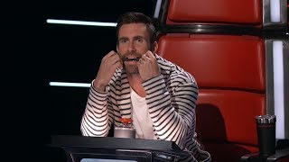 Top 10 Best Blind Auditions - Adam shocked after turning the chairs in The voice 2017 USA