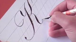 How to Write Copperplate (The Letters K and k)