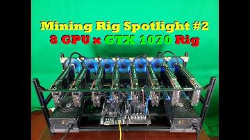 8 GPU x GTX 1070 Mining Rig Spotlight | Mining Rig Spotlight #2