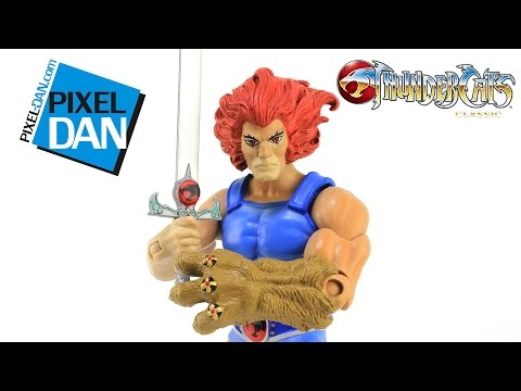 ThunderCats Lion-O Mattel Classic Action Figure Video Review