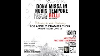 LA Chamber Choir. Dona Nobis Pacem (Finale)