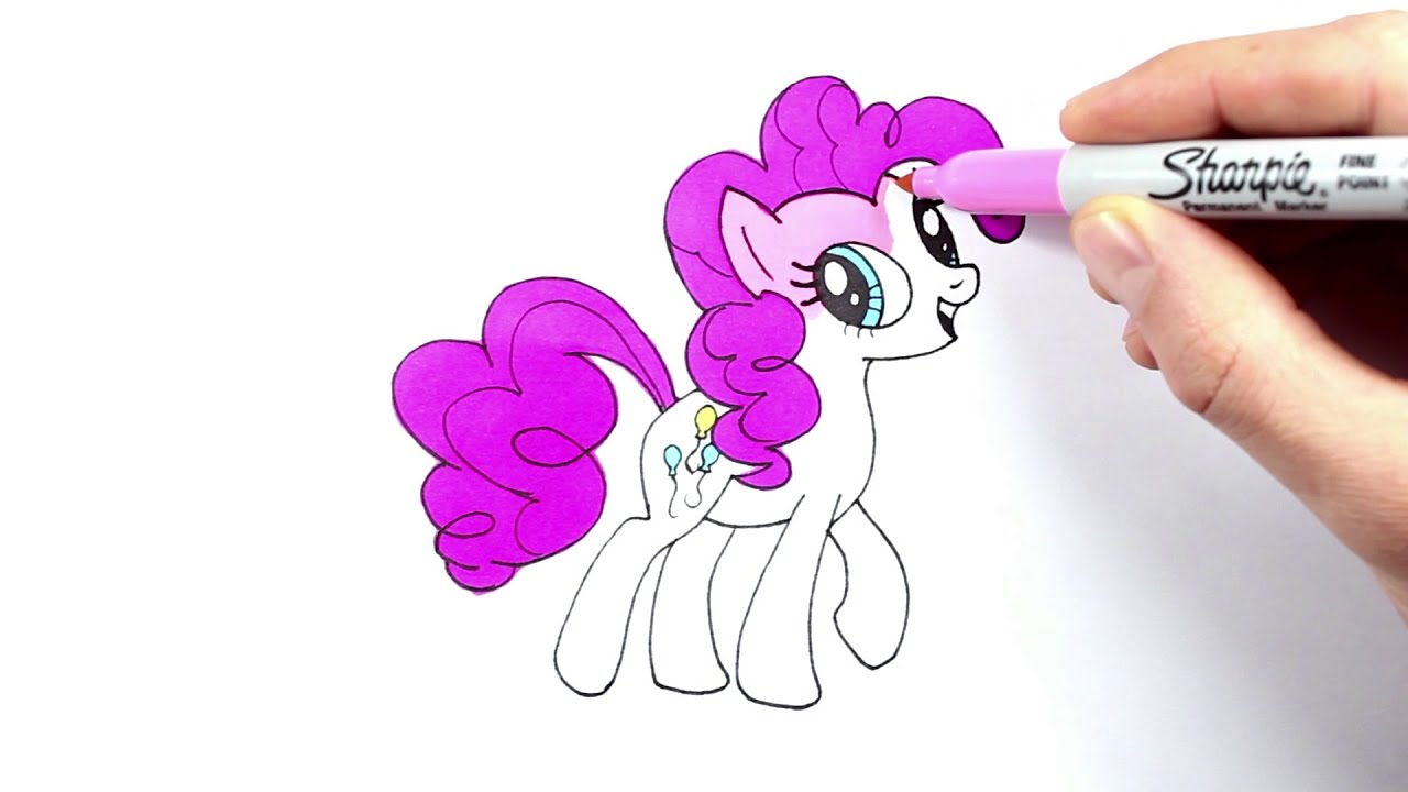 Pony Pinkie Pie Drawing And Coloring Pony Pinkie Pie Cizimi Ve