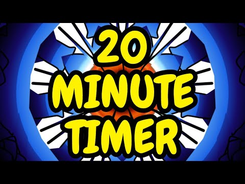 Silent 20 Minute Timer with alarm