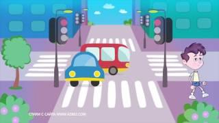 Правила дорожного движения (ПДД) 🚗 для детей в стихах. 🚦 Развивающий мультик. Урок 2