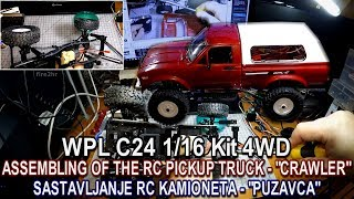 WPL C24 1/16 Kit 4WD Assembling of the RC Pickup Truck-Crawler (Bangood)