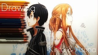 Speed Drawing Kirito & Asuna - Sword Art Online