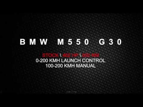 BMW M550 G30 Launch control & acceleration