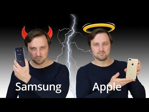 Сравнение iPhone 7 Plus против Samsung Galaxy S8