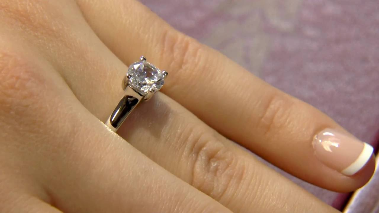 SR1022 One Carat Solitaire Engagement Ring Dublin Ireland YouTube