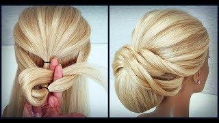 Красивые прически пошагово,как крепить шпильки.Легкая прическа.Easy hairstyle.How to attach studs